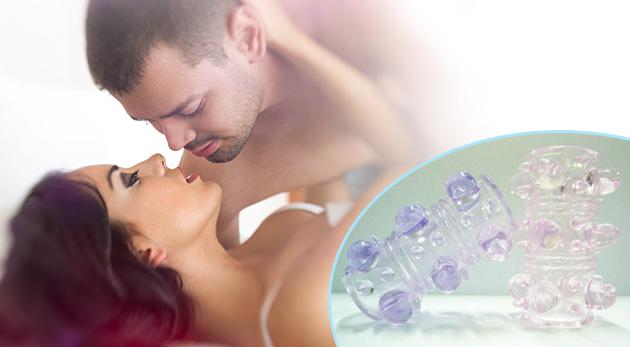 Erotická pomôcka pre intenzívne intímne chvíle - návlek na penis BUBBLE