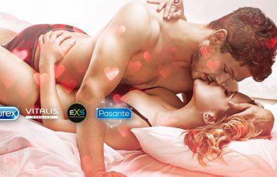 Špičkové kondómy popredných značiek Durex, EXS, Pasante a Vitalis