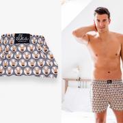 Pánske spodné prádlo – Šedý Sobík pre pánov