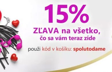 -15% zľavový kód na vybrané produkty na kondomshop.sk