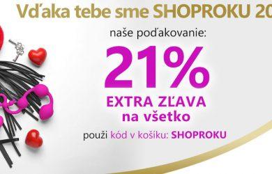 21% zľavový kupón na všetko na KondomShop.sk
